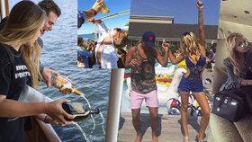 Zlatá mládež a Tiffany Trumpová: Léto vrcholí - jachty, praskající peněženky a každodenní party