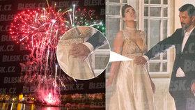 Miliardářská ruská svatba v Praze: Těhotná nevěsta?! Foto novomanželů leccos naznačuje!