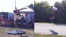 Dívky bojovaly v tanci u tyče, mistři obuli skákací boty. V Praze se koná Ladronkafest