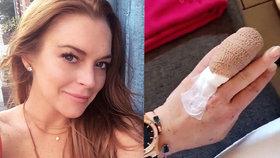 Další průšvih Lindsay Lohan: Zranila se a přišla o kus prstu!