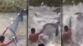 Ryby vrací úder! Létající hejno stovek ryb málem srazilo lovce na kolena
