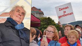 Zemanova kritika v Luhačovicích vypískali. Prezident bránil nemocného Čubu