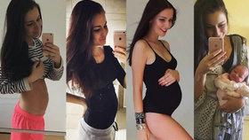 Jak se z holky stane máma: Tereza Chlebovská ukázala dojemné fotky!