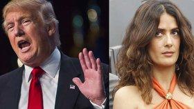 Sukničkář Trump chtěl randit se Salmou Hayek! Mexická kráska ho ale odmítla a on se jí za to mstil
