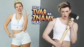 Anička Slováčková vs. Adam Mišík ve Tváři: Kdo z nich je lepší Miley Cyrus? Hlasujte!