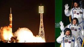 Sojuz se třemi lidmi vystartoval k vesmírné stanici. Veze lahůdky na konec roku