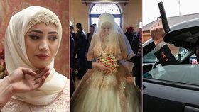 Velká čečenská svatba: Smutná a plakající nevěsta i zakázaná střelba