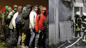 Na uprchlíky u Vídně zaútočil žhář. Lahev od piva naplnil hořlavinou