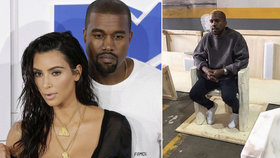 První foto manžela Kim Kardashian po kolapsu: Kanye West na blond. Odvrátí rozvod?