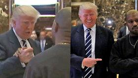 Trump se sešel s Kanye Westem: Rád tě vidím, blonďáku! Kde máš tu tlustoprdku?