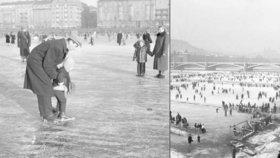 Když v metropoli zamrzala řeka: Celá Praha byla na Vltavě