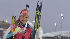 Biatlonistka Koukalová je na lyžích ještě krásnější než loni!