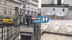 Záchody na Uhelném trhu jsou čisté a voní. Na vše ale musíte sahat