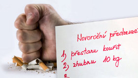 Zhubnu, přestanu kouřit, seknu s alkoholem! Jak předsevzetí na rok 2017 dodržet?