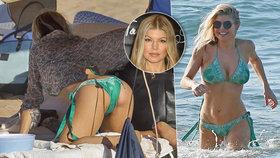 Zpěvačka Fergie (41) se vystavila na Havaji! Páni, to je pružné tělíčko