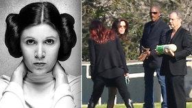 Princeznu Leiu pohřbili v obřím antidepresivu, část popela odsypali do rakve matky
