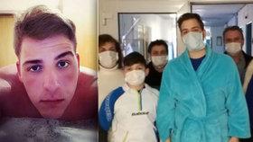 Dušan (21) šel k zubaři s bolestí, teď bojuje o život: Našli mu akutní leukémii