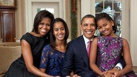 Obamová o dospívání dcer: Agent s pistolí je hlídal u kamarádek i na prvním rande