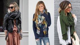 Jak uvázat šálu: Nosit ji můžete na 10 různých způsobů