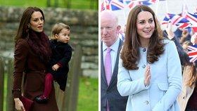 Inspirujte se kabáty, jaké nosí vévodkyně Kate. Který je nejhezčí?