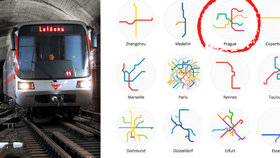 """Trasy linek metra ve světě: Korea a Čína je chaos, pražské metro je """"malé"""" a přehledné"""