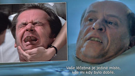 Scény z léčebny ve filmu Masaryk: Roden jako Nicholson!
