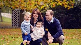 Nové foto Kate a dětí: Chci, aby žili v reálném světě, říká William