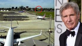 Pomatený Harrison Ford (74): Takhle těsně minul boeing se 116 lidmi na palubě