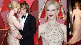 Nicole Kidman na Oscarech čachrovala s róbou! Zlobila ji vyrážka, pomohly nůžky!