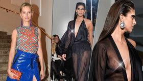 Kurková hvězdou týdne módy: Přijela v sukni z PVC, Vignerová vystavila nahá prsa!