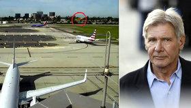 Jsem ňouma, kál se Harrison Ford. Se svým letadlem těsně minul obří Boeing 737