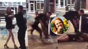 Šokující video: Policista surově mrskl s dívkou (22) o zem, prý je napadla