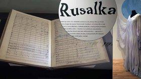 Rusalka je zpět v Čechách! Originální rukopis Antonína Dvořáka se vrátil po 25 letech