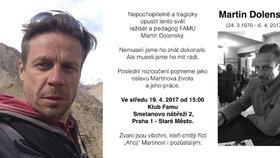 Záhadná smrt režiséra Vyprávěj Dolenského: Místo pohřbu oslava