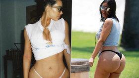 Foto, které stálo Kardashian 100 tisíc fanoušků: Celulitidou zbídačený zadek nerozdýchali