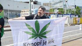 """Nejen tráva je """"boží"""". Policisté během průvodu za její legalizaci zabavovali i pervitin a extázi"""