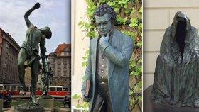 Kontroverzní sochy Anny Chromy zaplavují Prahu: Odborníkům se to nelíbí