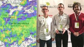 »Poručili větru, dešti«: Studenti z Plzně vyvinuli aplikaci, která zobrazuje počasí v celém světě