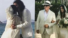 Módní magnát Tommy Hilfiger provdal dceru. Na cikánské svatbě měla otcovy šaty
