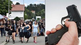Na hudebním festivalu u Vizovic střílel cizinec: Zbraň vytáhl u vchodu na Masters of Rock