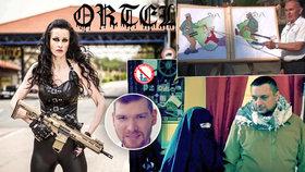 Domina se zbraní u hranic i malůvky muslimů: Expert ztrhal bizarní kampaně