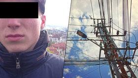 """Rapper Honza """"Loky"""" (†20) vylezl na sloup vysokého napětí: Zabila ho elektřina!"""