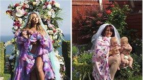 Matky parodují Beyoncé a její fotku s dvojčaty! Snímky jsou k popukání