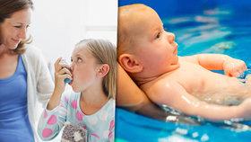 Chodíte s kojencem plavat? Pozor, zakládáte mu na zdravotní problémy