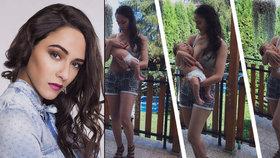 Herečka Eva Burešová kojí online: 6 týdnů po porodu jako proutek
