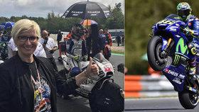 Trapas Šlechtové: Na MotoGP ji musel odstrkovat sám hvězdný Valentino Rossi