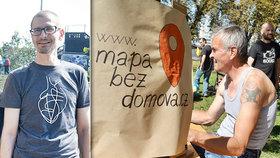 Zdeněk vytvořil mapu pro lidi bez domova: Najdou v ní místa, kde se najíst nebo umýt