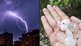 Po tropech udeřily silné bouřky. Řádily kolem Prahy i na Zlínsku, sledujte radar