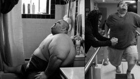 »Jídlo mě zabíjí!« Šokující snímky ukazují život obézního muže, který svůj boj s váhou prohrál