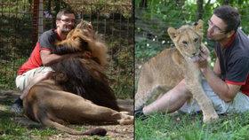Michal chová na zahradě lvy: Úřady tvrdí, že protizákonně, on se jich však nechce vzdát!